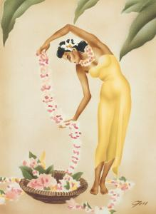 The Hawaiian Leimaker, c.1930s by Gill