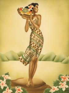 Tropical Harvest, Hawaiian Woman with Fruit, c.1930s by Gill