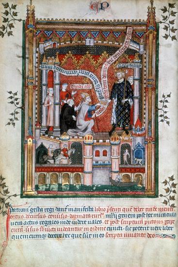 Gilles De Pontoise, Abbot of St Denis, 1317--Giclee Print