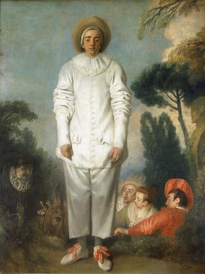 Gilles - Pierrot, 1718-1719-Jean-Antoine Watteau-Giclee Print