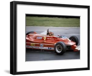 Gilles Villeneuve Racing a Ferrari 312T5, British Grand Prix, Brands Hatch, 1980