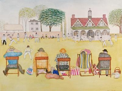 The Cricket Match, 1989 by Gillian Lawson
