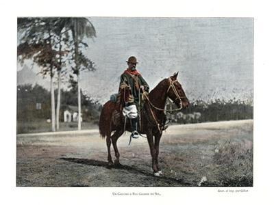Cattle Herder, Rio Grande Do Sul, Brazil, 19th Century by Gillot