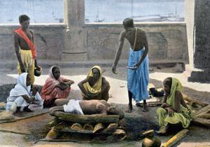 Cremation in India, C1890 by Gillot