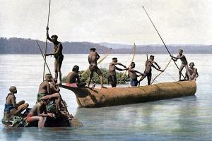 Fishing with a Bow, Andaman and Nicobar Islands, Indian Ocean, C1890 by Gillot