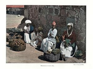 Fruit Sellers, Rio De Janeiro, Brazil, 19th Century by Gillot