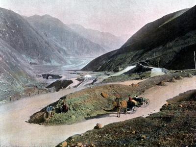 Georgian Military Road, C1890 by Gillot