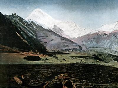Mount Kazbek, Caucasus, C1890 by Gillot