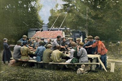 Workmen's Canteen in a Village, Russia, C1890