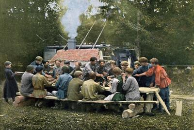 Workmen's Canteen in a Village, Russia, C1890 by Gillot