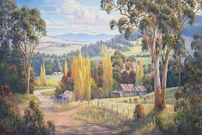 Gilmore Valley Gold-John Bradley-Giclee Print