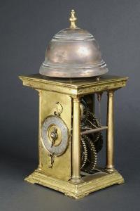 Gilt Bronze Clock with Large Bronze Bell