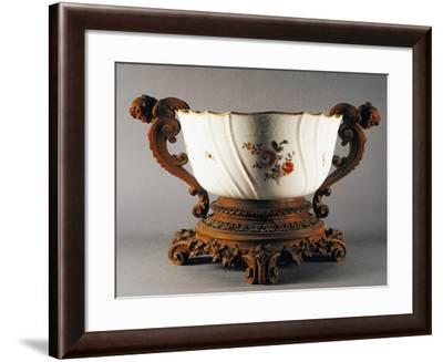 Gilt-Edged Ribbed Cup with Floral Decorations, Circa 1770--Framed Giclee Print