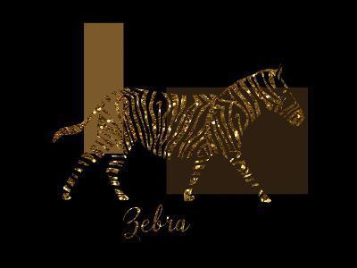 Gilt Zebra-Tina Lavoie-Giclee Print