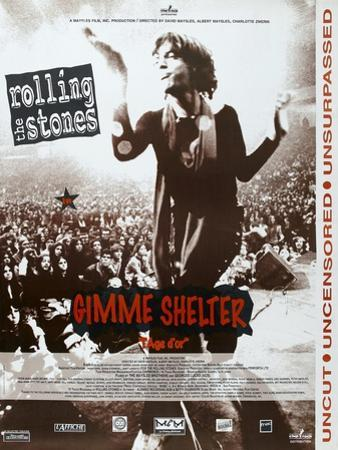 Gimme Shelter, French poster, Mick Jagger, 1970