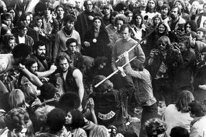 Gimme Shelter, Hell's Angels Beating an Audience Member at Altamont, 1970