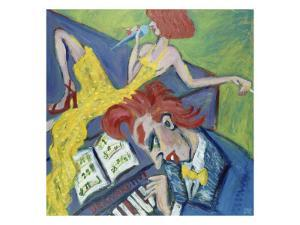 Two Red Heads and a Piano by Gina Bernardini