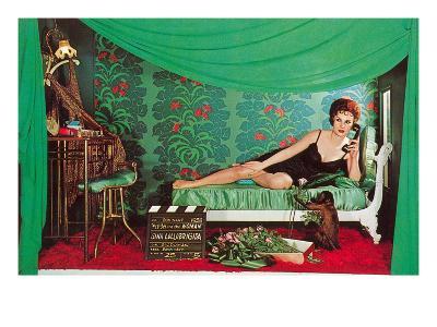 Gina Lolobrigida with Monkey--Art Print