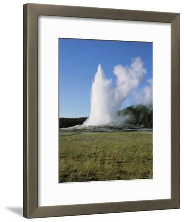 View of Geyser Country's Old Faithful Erupting