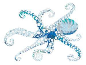 Azul Dotted Octopus II by Gina Ritter