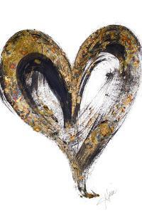 Gold and Black Heart by Gina Ritter