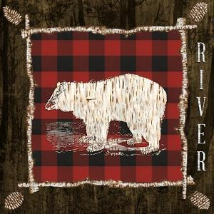 Plaid Birch Trail IV by Gina Ritter