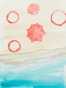Watercolor Beach Stains II by Gina Ritter