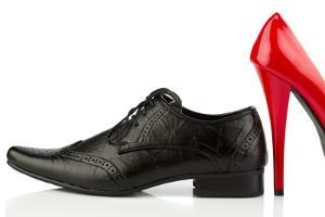 Ladies Shoes and Men's Shoes, Symbolic Photo for Partnership and Equality by ginasanders