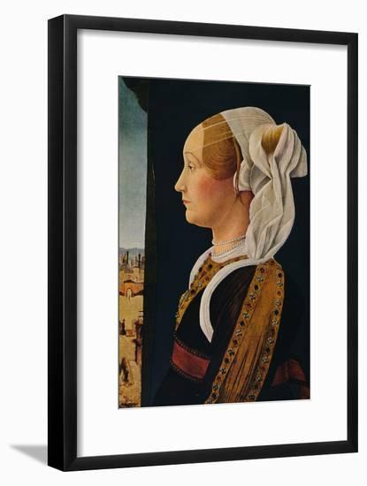 'Ginevra Bentivoglio', 1474-1477-Ercole de' Roberti-Framed Art Print