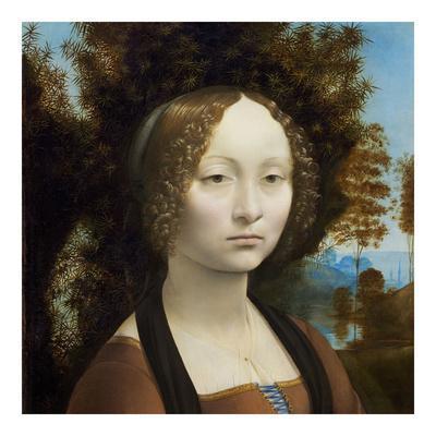 1474-1478 by Leonardo da Vinci Art Print Poster 20x20 c Ginevra de' Benci