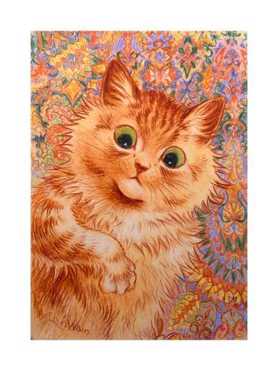Ginger Cat, 1931-Louis Wain-Giclee Print