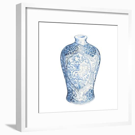 Ginger Jar I on White-Wild Apple Portfolio-Framed Art Print