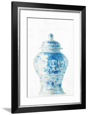 Ginger Jar II on White Crop-Danhui Nai-Framed Art Print