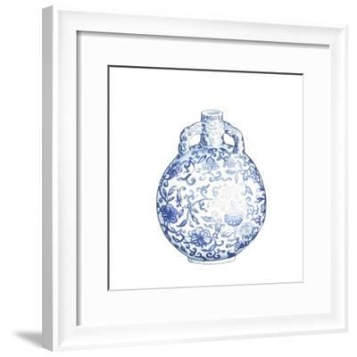 Ginger Jar IV on White-Wild Apple Portfolio-Framed Art Print