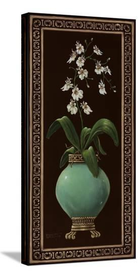 Ginger Jar With Orchids I-Janet Kruskamp-Stretched Canvas Print
