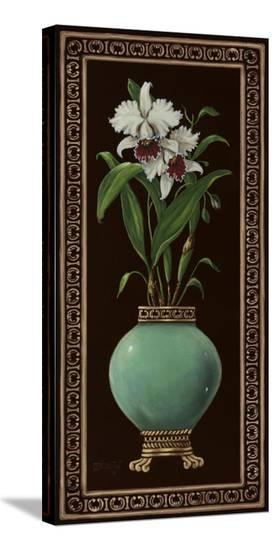 Ginger Jar With Orchids II-Janet Kruskamp-Stretched Canvas Print