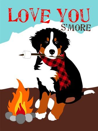 Bernese Mountain Dog - Love You S'More