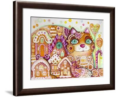 Gingerbread Cat 1-Oxana Zaika-Framed Giclee Print