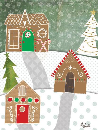Gingerbread Houses-Katie Doucette-Art Print
