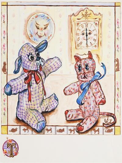 Gingham Dog and Calico Cat-Judy Mastrangelo-Giclee Print