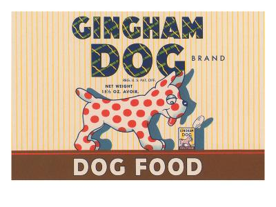 Gingham Dog--Art Print