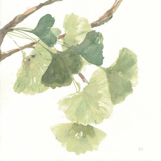Gingko Leaves I on White-Chris Paschke-Art Print