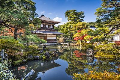 Ginkaku-Ji Silver Pavilion during the Autumn Season in Kyoto, Japan.-SeanPavonePhoto-Photographic Print