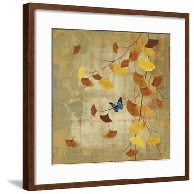 Ginkgo Branch II-Asia Jensen-Framed Art Print