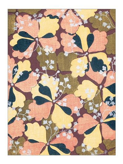 Ginkgo Kimono Design--Giclee Print
