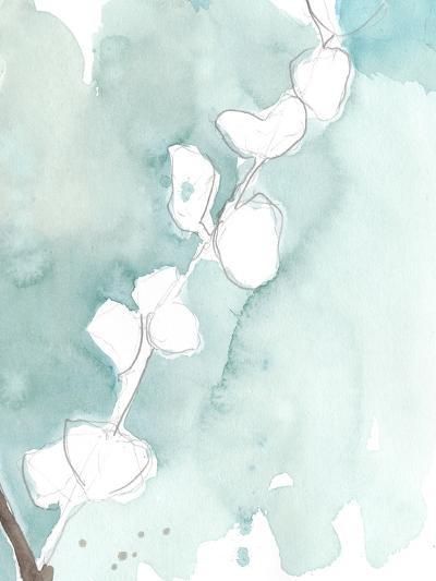 Ginkgo on Dusty Teal V-Jennifer Goldberger-Premium Giclee Print