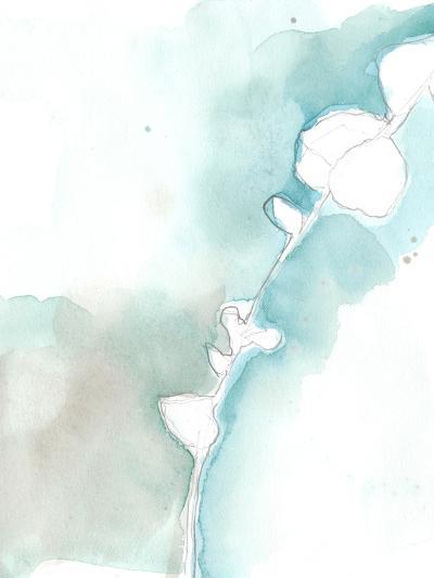 Ginkgo on Dusty Teal VII-Jennifer Goldberger-Premium Giclee Print
