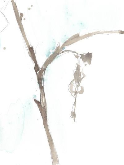 Ginkgo on Dusty Teal VIII-Jennifer Goldberger-Premium Giclee Print