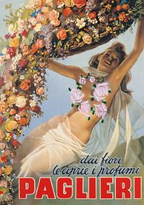 Advertising poster for Paglieri Perfume by Gino Boccasile