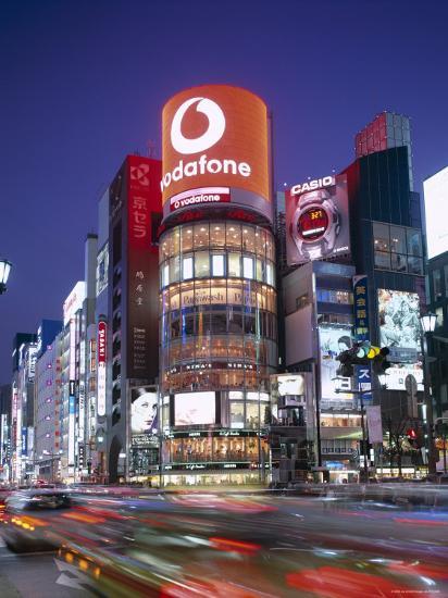Ginza, Night View, Tokyo, Honshu, Japan-Steve Vidler-Photographic Print
